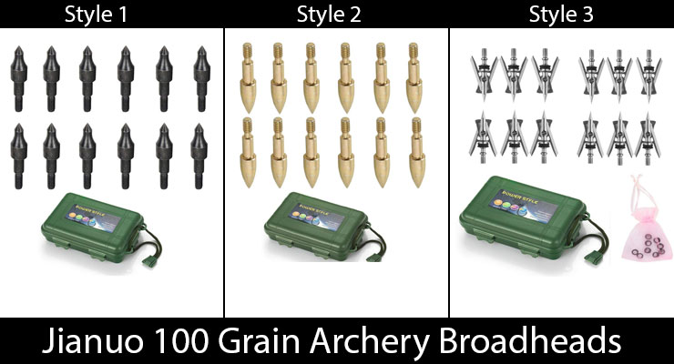Jianuo 100 Grain Archery Broadheads