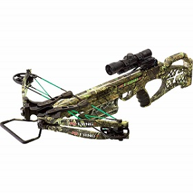 PSE Fang Series Compound Crossbow with Scope and Arrows