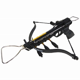 iGlow 80 Ib Black Camouflage Aluminum Hunting Pistol Crossbow Bow
