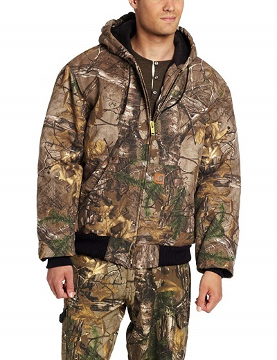 Carhartt Mens Quilted Flannel Lined Camo Active Jacket